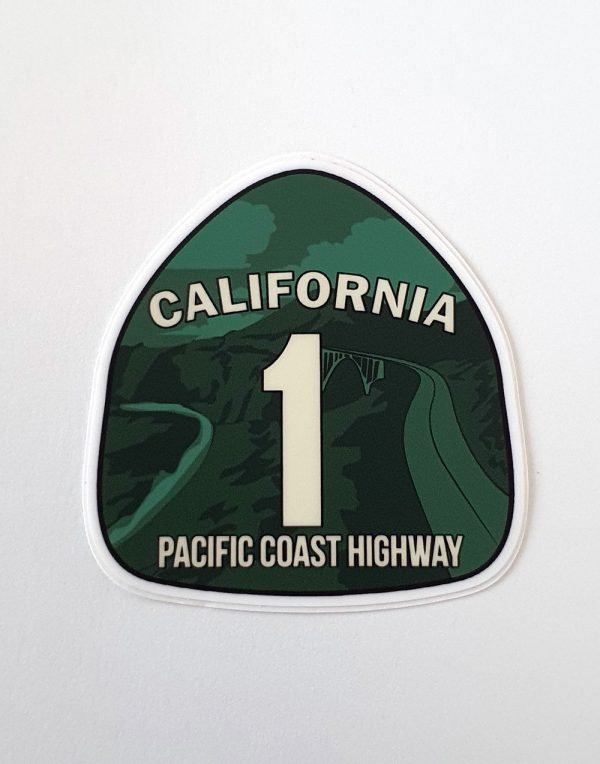 Kalifornia - Naklejka -Droga nr 1