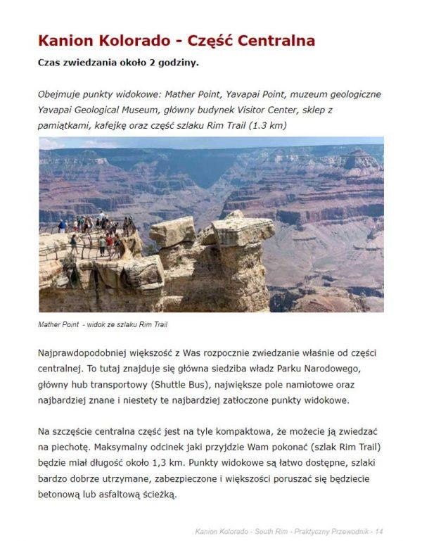 Przewodnik po Kanionie Kolorado- książka